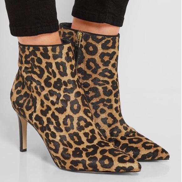 e44ecd03d Sam Edelman Karen Calf Hair Booties Leopard Size 7.  M 5b187eadc89e1df3a8494c50